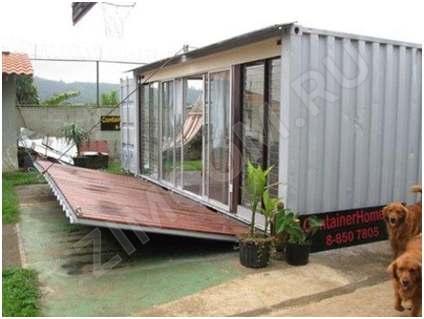 дом из вагончиков для молодожёнов